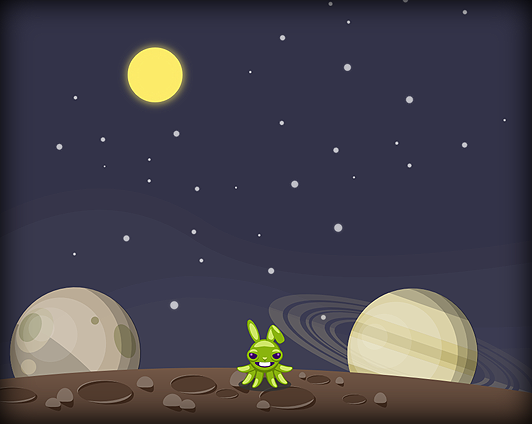 First attempt at space background
